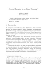central banking in an open economy