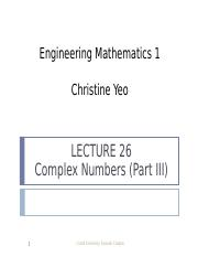 Math 1 lect26 - Complex Numbers (Part III).ppt