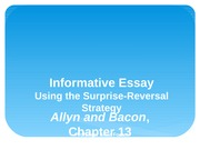 informative essay using the surprise-reversal strategy