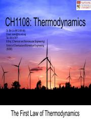 CH1108 Chapter 2_The First Law of Thermodynamics