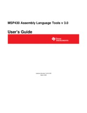 slau131b - MSP430 Assembly Language Tools v 3.0