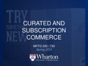 12 - Curated and Subscription Commerce