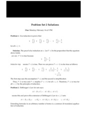 Solutions for homework 2