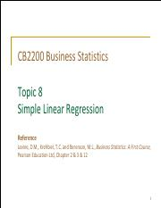 Topic 8 Simple Linear Regression (Student)