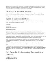 Business can be defined as an organization that provide goods and services to others.docx