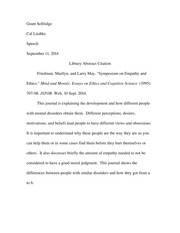 library abstract citation