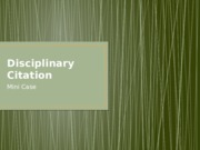 LT Disciplinary Citation Case
