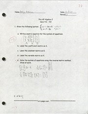 ALG- Chapters 4.6-4.8 quiz (graded)