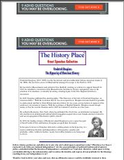 The History Place - Great Speeches Collection: Frederick Douglass Speech - The Hypocrisy of American