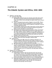 18 - The Atlantic System and Africa, 1550 - 1800