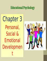 Chapter 3 Personal, Social  Emotional Development.pptx