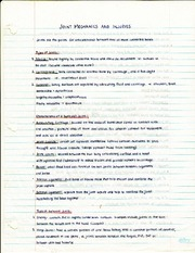 Joint Mechanics and Injuries Notes