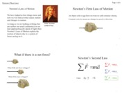 Newton's Three Laws (Notes 6)