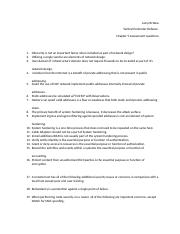Chapter 5 assessment questions Joey McNew