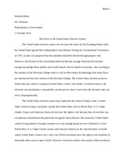 election system essay