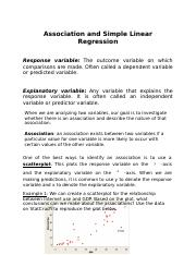 Part 9 association and simple linearregression