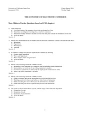 Econ 139A Midterm1 Practice Questions