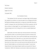 Sequence 1 essay, how you write simple