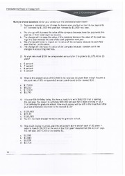 Unit Exam 2 - BAM 313 - Financial Management