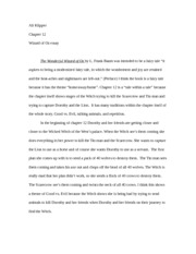 Ali Klipper Chapter 12 essay