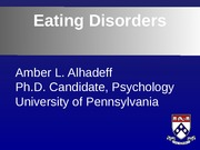 Eating Disorders Guest Lecture upload