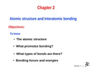 ch 2 Atomic structure and bonding0
