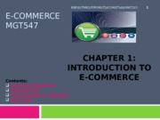 C1. Introduction to ECommerce