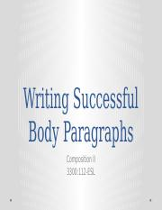 Writing the Body Paragraphs.pptx