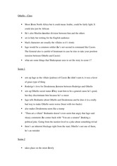 Othello–Class notes