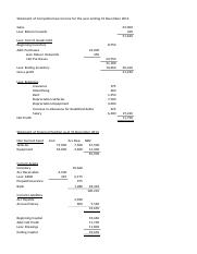 Answers to additional questions financial statements