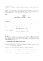 Homework 6 Solutions- Investment Management