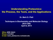 Proteomics Lecture