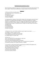 Book Based Practice Questions for Exam 3