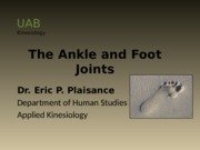 The Ankle and Foot Joints_ep