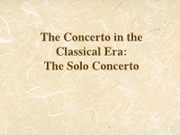 24 - The Concerto in the Classical Era