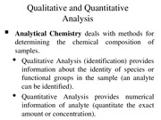 CHE 215 FA15 Analytical Chemistry and Analytical Methods