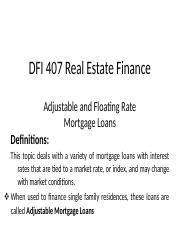 Mortgages DFI 407.docx