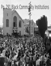 Pg. 291 Black Community Institutions.pptx