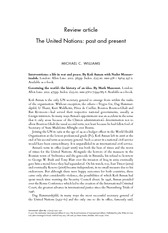 Williams_The United Nations_Past and Present
