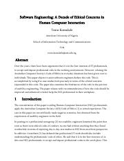 Software Engineering A Decade of Ethical Concerns in Human Computer Interaction.pdf