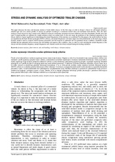 STRESS AND DYNAMIC ANALYSIS OF OPTIMIZED TRAILER CHASSIS