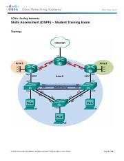 ScaN Skills Assess - OSPF - Student Trng - Exam