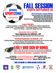 Hershey Sports Complex Fall 2010 - Team Registration Package