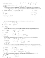 wave equation notes