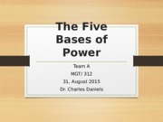 The Five Bases of Power - Template