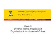 Lecture 5 - Dynamic Teams - Projects and Organisational structures and Culture.pdf