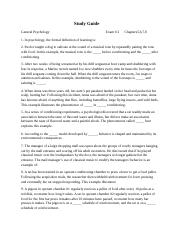 Study Guide for Exam #2, Ch. 5,6,7,8.docx