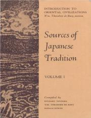 Ryūsaku Tsunoda Sources of Japanese tradition, Volume 1