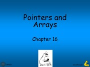 Lecture 8 - Pointers and Arrays