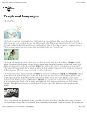 "People and Languages â€"" North American Indians"